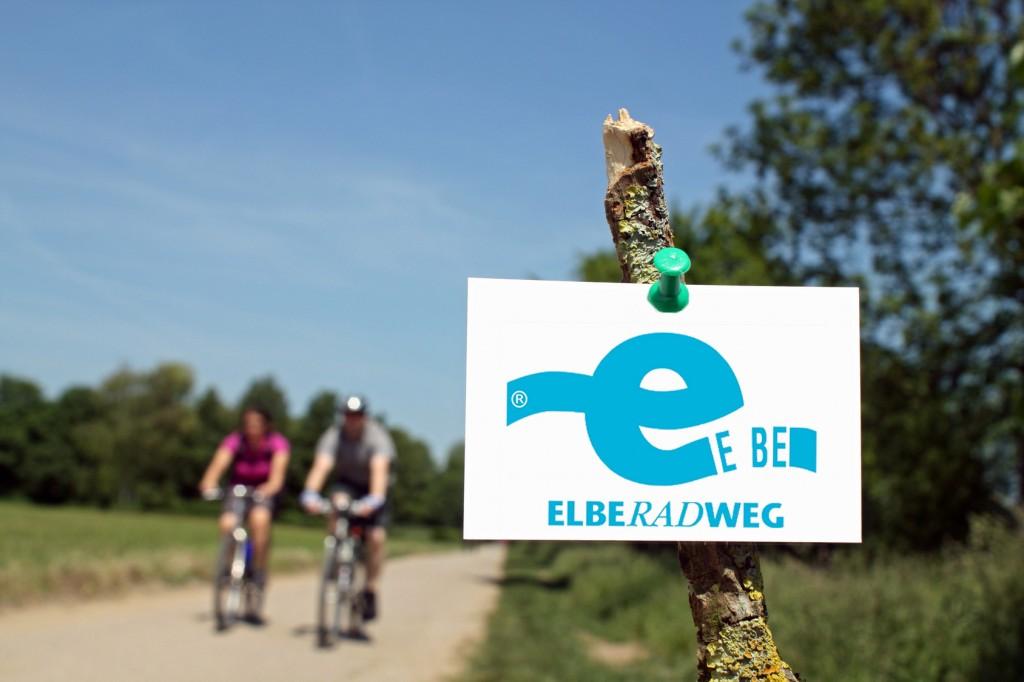 Zettel mit Radfahrer